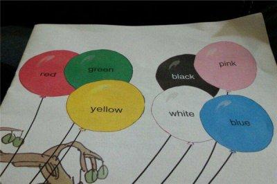 幼儿英语单词颜色顺口